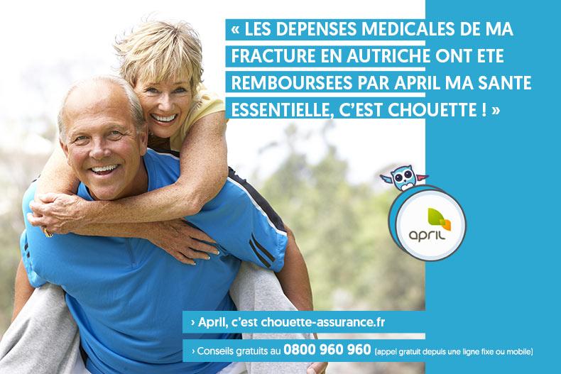 Meilleur remboursement frais médicaux union européenne et suisse c'est Chouette Ma santé essentielle d'April