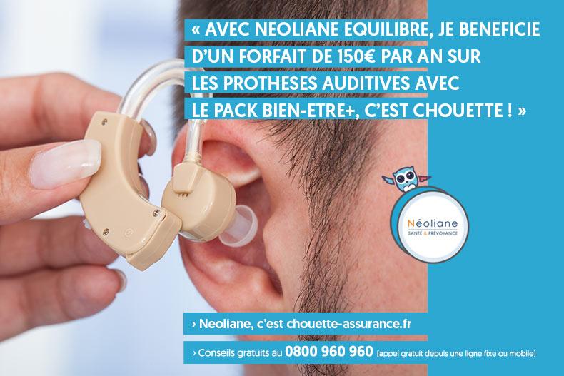 mutuelle neoliane equilibre forfait protheses auditives