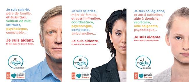 Affiches de la 9e Journée Nationale des Aidants du 6 octobre 2018 organisée par le Collectif Je t'Aide, c'est Chouette !
