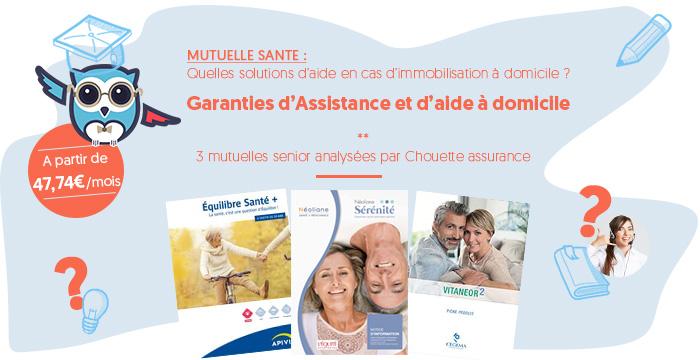 garanties d'assistance et d'aide au maintien à domicile des mutuelles pour senior et retraité, c'est Chouette !