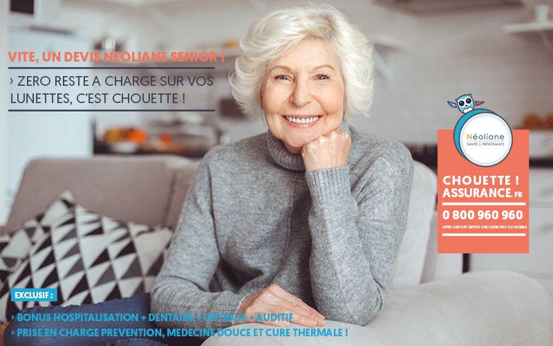 Devis Neoliane Sérénité SENIOR : la chouette mutuelle senior pas chère ? avis consommateur c'est Chouette assurance ! ?